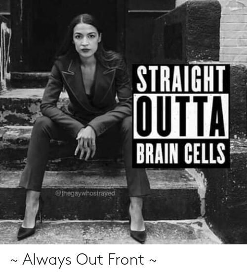 Memes, Straight Outta, and Brain: STRAIGHT  OUTTA  BRAIN CELLS  @thegaywhostrayed ~ Always Out Front ~