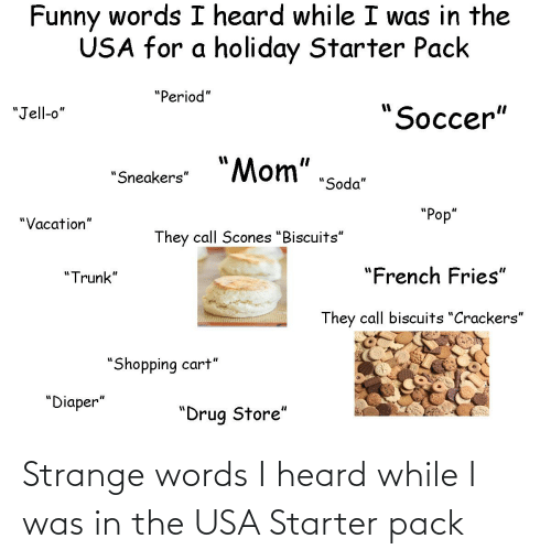 Starter Packs, Starter Pack, and Usa: Strange words I heard while I was in the USA Starter pack