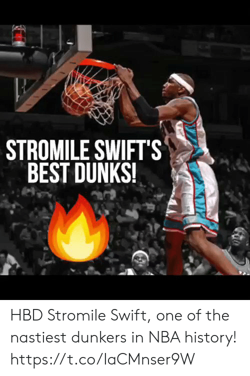 swift: STROMILE SWIFTS  BEST DUNKS! HBD Stromile Swift, one of the nastiest dunkers in NBA history!  https://t.co/IaCMnser9W