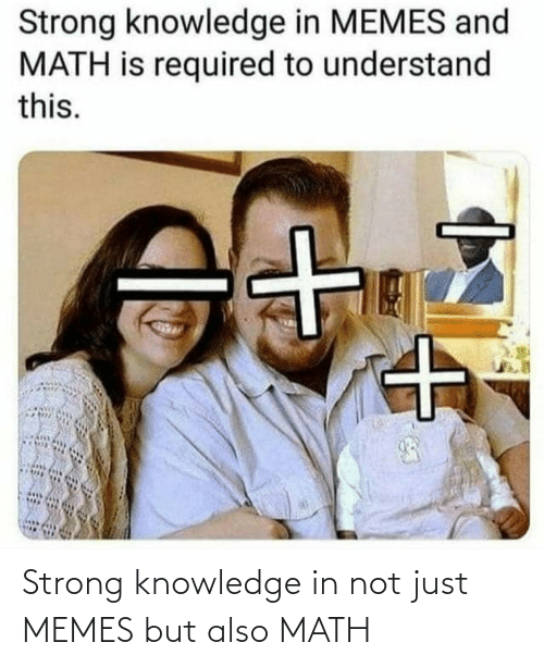 Knowledge: Strong knowledge in not just MEMES but also MATH