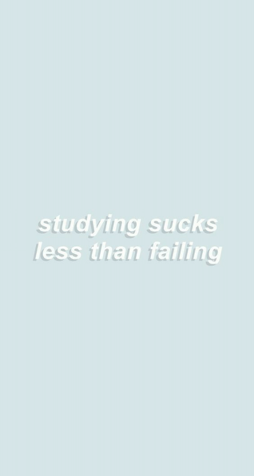 Studying, Sucks, and Failing: studying sucks  less than failing