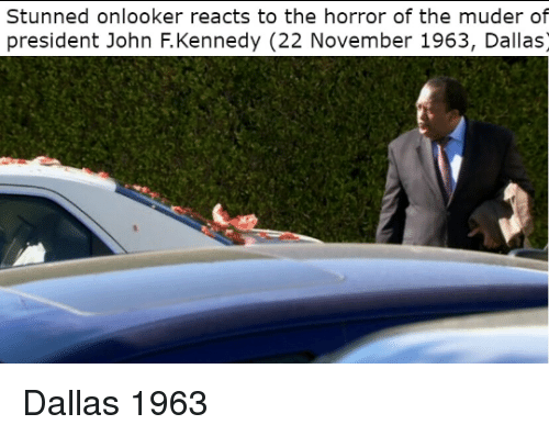 John F. Kennedy: Stunned onlooker reacts to the horror of the muder of  president John F.Kennedy (22 November 1963, Dallas) Dallas 1963