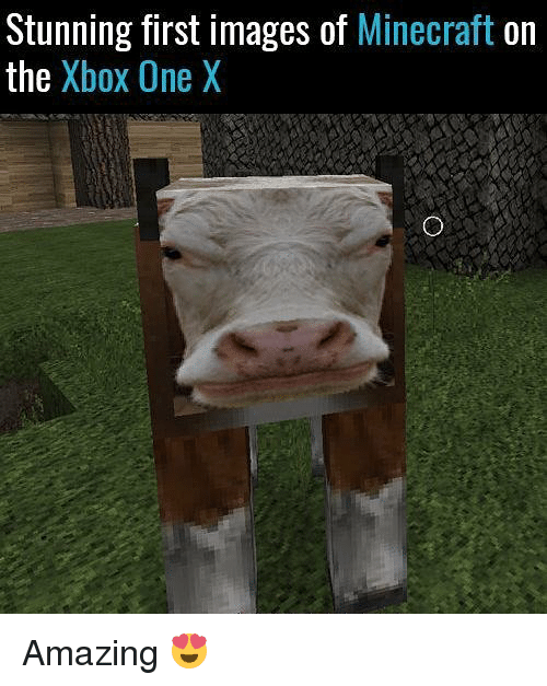 Xbox One X: Stunning first images of  Minecraft on  the  Xbox One X Amazing 😍
