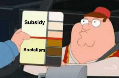 Socialism and Subsidy: Subsidy  Socialism