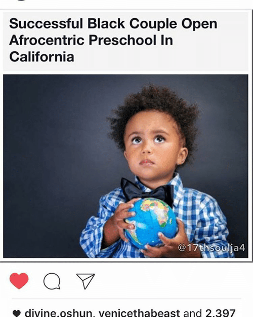 successful black couple open afrocentric preschool in california 17th soulia4 8534163 ✅ 25 best memes about community development community