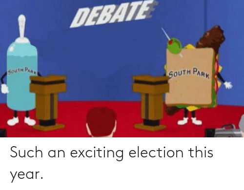 exciting: Such an exciting election this year.