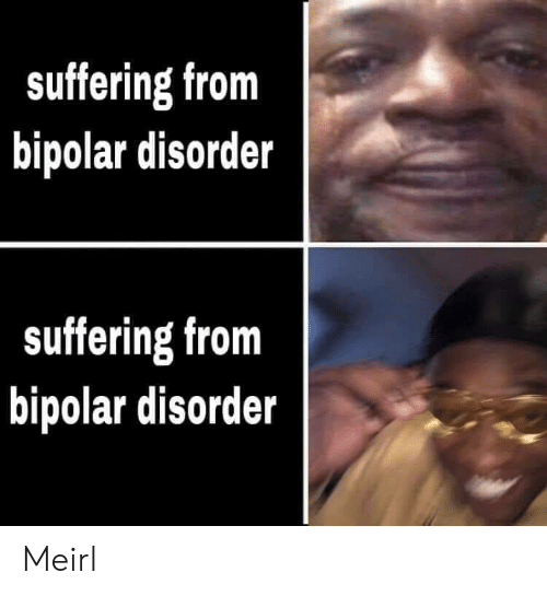 Bipolar, Suffering, and MeIRL: suffering from  bipolar disorder  suffering from  bipolar disorder Meirl
