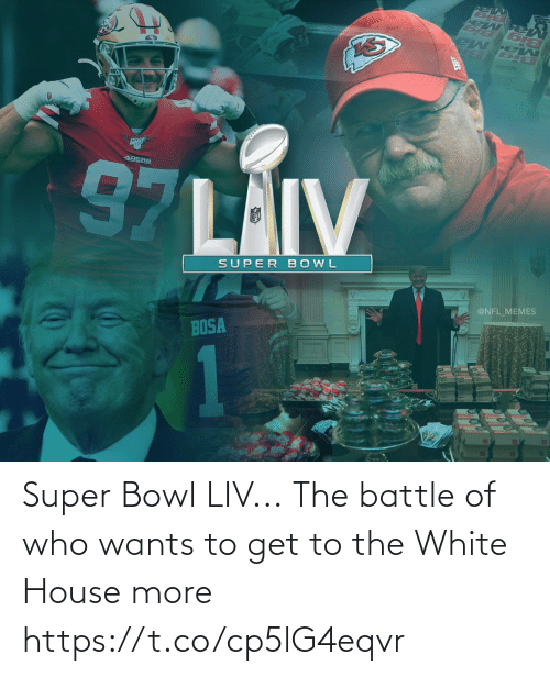 Https: Super Bowl LIV...  The battle of who wants to get to the White House more https://t.co/cp5lG4eqvr
