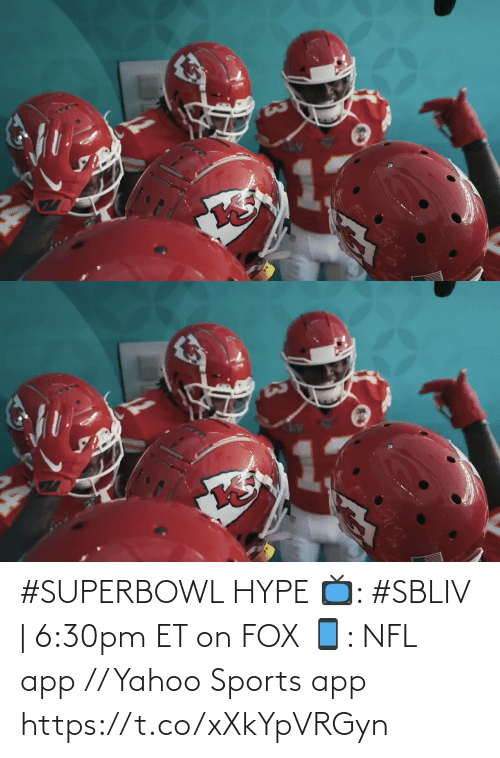 Superbowl: #SUPERBOWL HYPE  📺: #SBLIV | 6:30pm ET on FOX 📱: NFL app // Yahoo Sports app https://t.co/xXkYpVRGyn