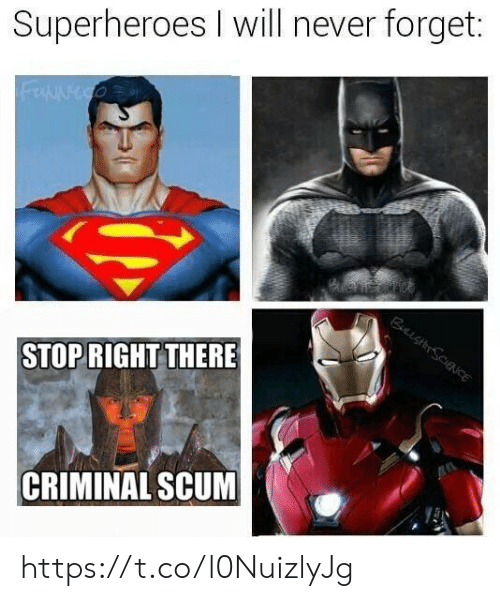 superheroes: Superheroes I will never forget:  STOPRIGHT THERE  CRIMINAL SCUM https://t.co/l0NuizlyJg