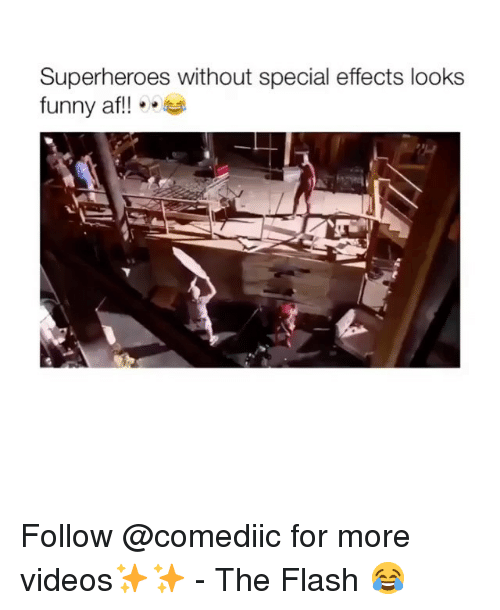 Funny Af: Superheroes without special effects looks  funny af!!. Follow @comediic for more videos✨✨ - The Flash 😂