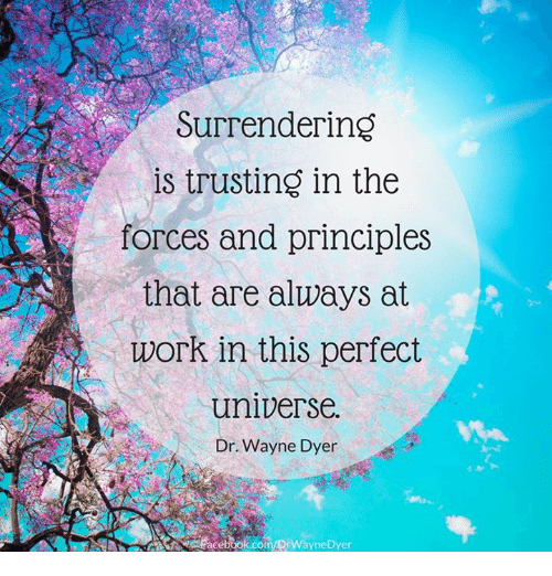 Surrendering Is Trusting In The Forces And Principles That Are