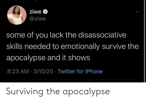 apocalypse: Surviving the apocalypse