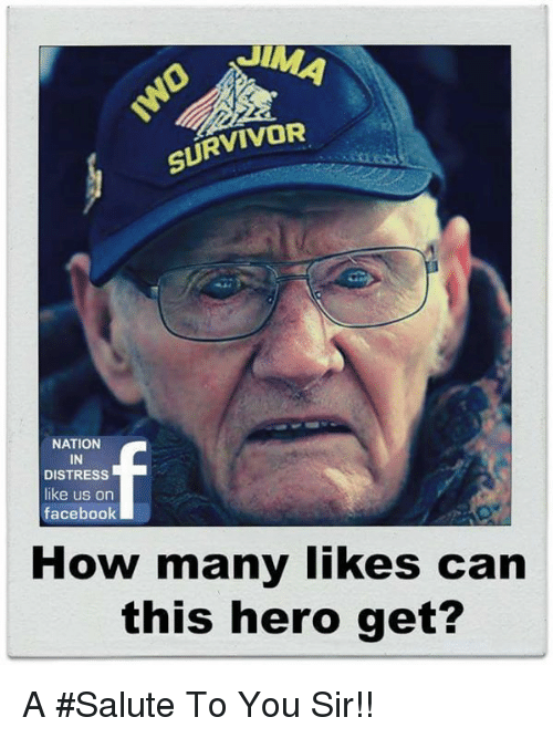 Salute To You: SURVIVOR  NATION  IN  DISTRESS  like us on  facebook  How many likes can  this hero get? A #Salute To You Sir!!