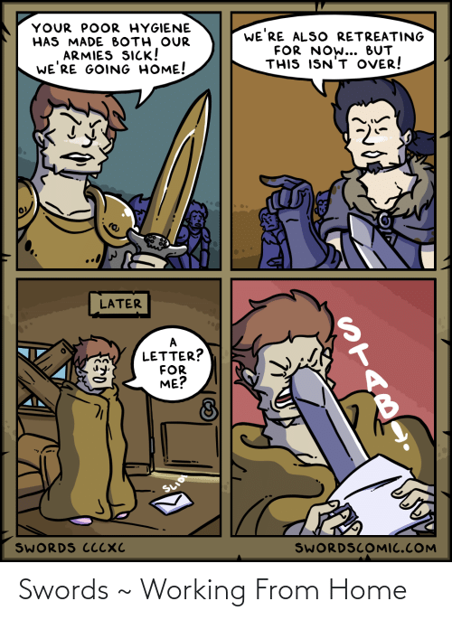 working from home: Swords ~ Working From Home