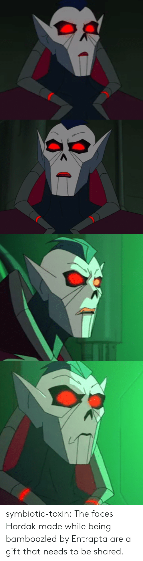 Hordak: symbiotic-toxin:  The faces Hordak made while being bamboozled by Entrapta are a gift that needs to be shared.