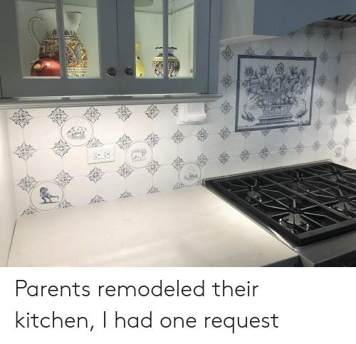 tab: TAB  wger Parents remodeled their kitchen, I had one request