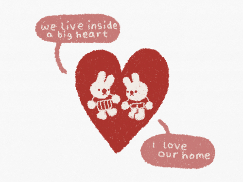 A Big Heart: taeive inside  a big heart  t iove  Our home