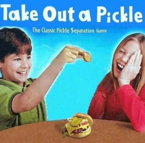 separation: Take Out a Pickle  The Classic Pickle Separation Game