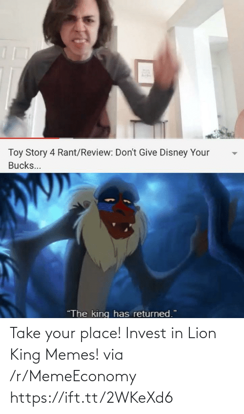Https Ift: Take your place! Invest in Lion King Memes! via /r/MemeEconomy https://ift.tt/2WKeXd6