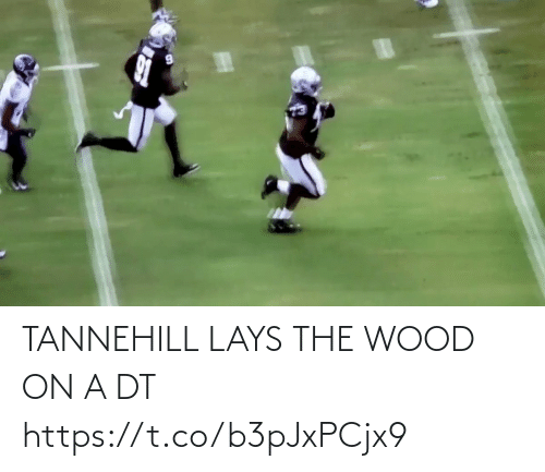 wood: TANNEHILL LAYS THE WOOD ON A DT https://t.co/b3pJxPCjx9
