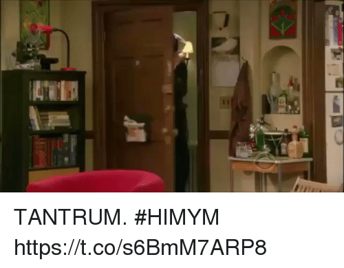 Memes, 🤖, and Himym: TANTRUM. #HIMYM https://t.co/s6BmM7ARP8