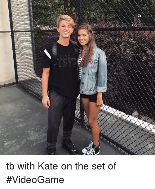 katee: tb with Kate on the set of #VideoGame