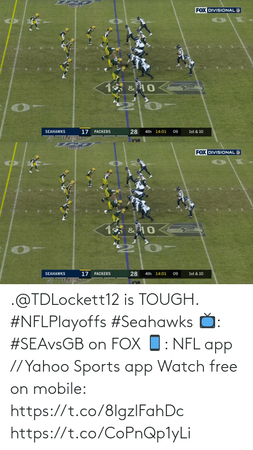 app: .@TDLockett12 is TOUGH. #NFLPlayoffs #Seahawks  📺: #SEAvsGB on FOX 📱: NFL app // Yahoo Sports app Watch free on mobile: https://t.co/8lgzlFahDc https://t.co/CoPnQp1yLi