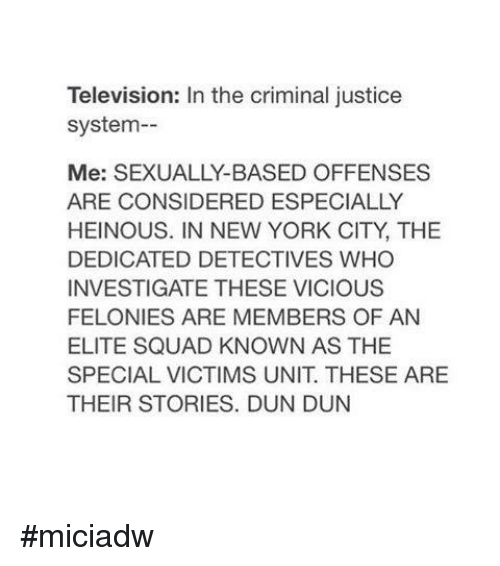 television shows that depict the components of the criminal justice system The criminal justice system is composed of three parts - police, courts and corrections - and all three work together to there are several components that work together to enforce the purpose played by the criminal justice system most obviously, it includes the rules and laws entrenched in.