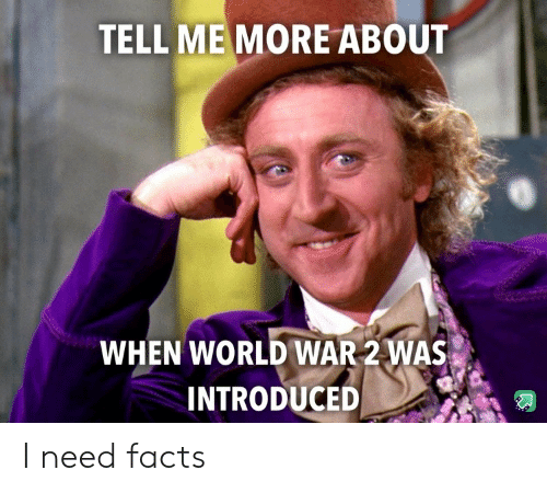 Introduced: TELL MEMORE ABOUT  WHEN WORLD WAR 2 WAS  INTRODUCED I need facts