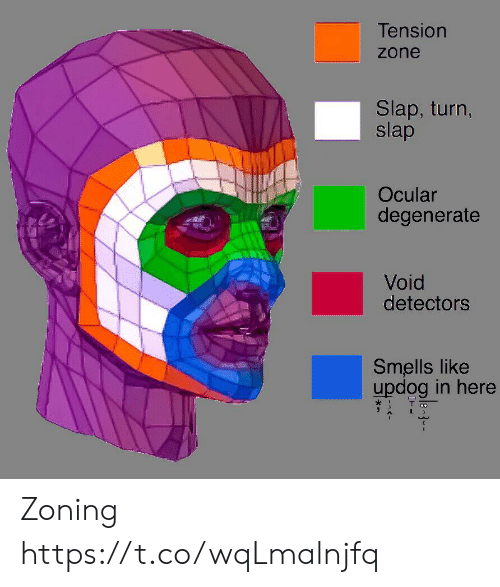 Ocular: Tension  zone  Slap, turn,  slap  Ocular  degenerate  Void  detectors  Smells like  updog in here Zoning https://t.co/wqLmalnjfq