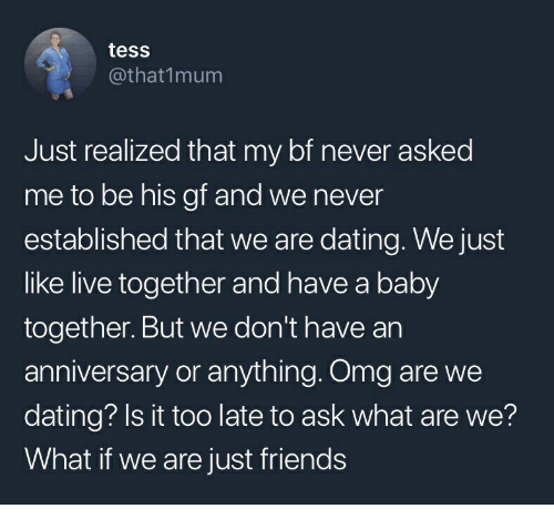 Dating to just friends