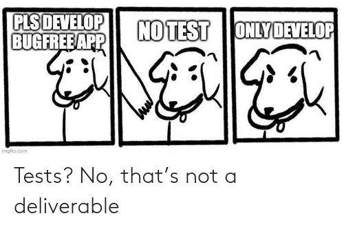 Not A: Tests? No, that's not a deliverable