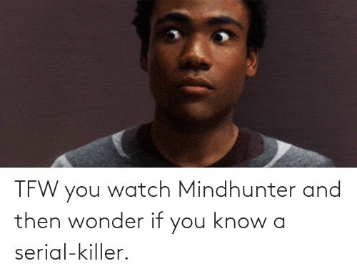 serial killer: TFW you watch Mindhunter and then wonder if you know a serial-killer.