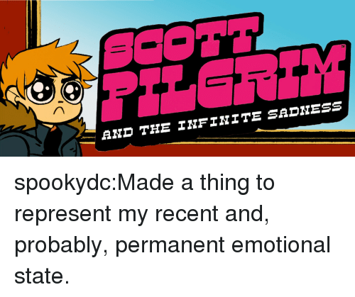 Target, Tumblr, and Blog: TH  AND THE NFINITE spookydc:Made a thing to represent my recent and, probably, permanent emotional state.