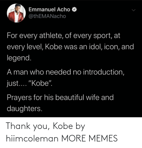 Hilarious: Thank you, Kobe by hiimcoleman MORE MEMES