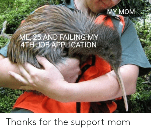 support: Thanks for the support mom