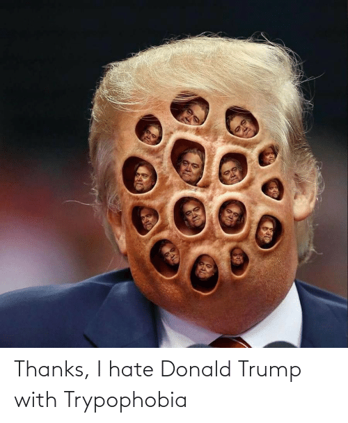 Donald Trump: Thanks, I hate Donald Trump with Trypophobia