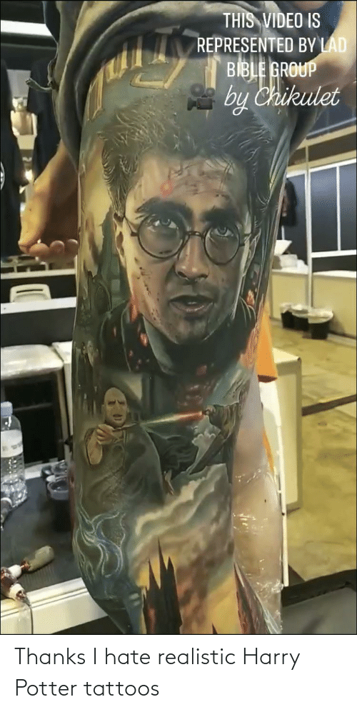 Harry Potter: Thanks I hate realistic Harry Potter tattoos