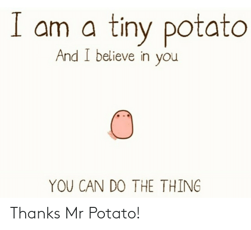 Mr: Thanks Mr Potato!