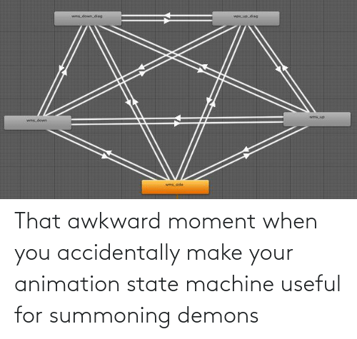 Animation: That awkward moment when you accidentally make your animation state machine useful for summoning demons