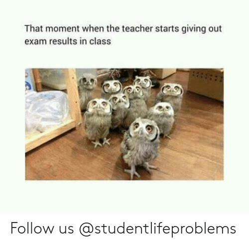 Teacher, Tumblr, and Http: That moment when the teacher starts giving out  exam results in class Follow us @studentlifeproblems