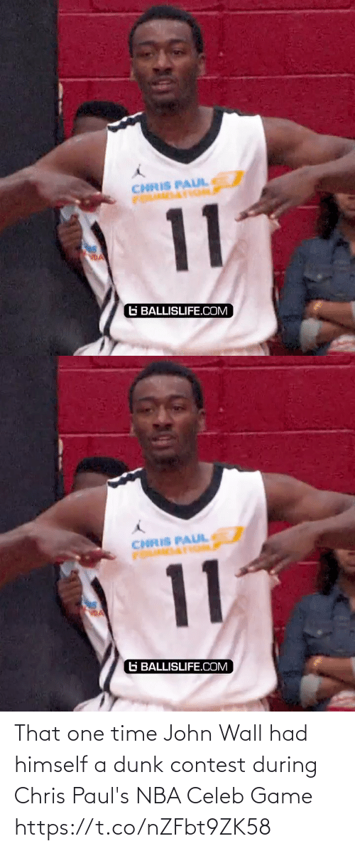 Himself: That one time John Wall had himself a dunk contest during Chris Paul's NBA Celeb Game https://t.co/nZFbt9ZK58