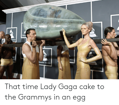 Lady Gaga: That time Lady Gaga cake to the Grammys in an egg