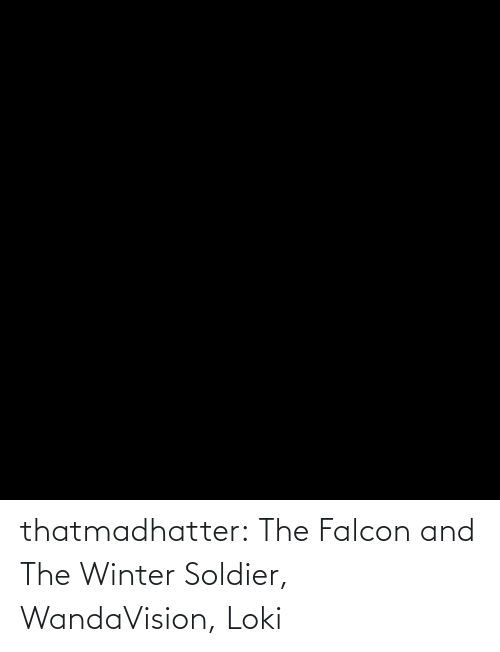 soldier: thatmadhatter:  The Falcon and The Winter Soldier, WandaVision, Loki