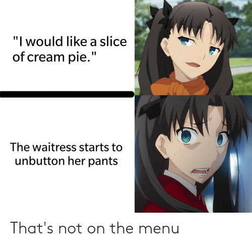 On The Menu: That's not on the menu