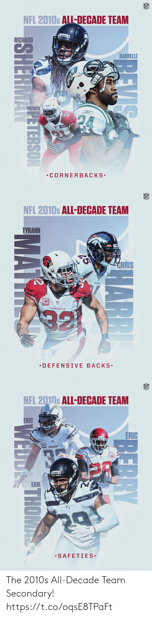 decade: The 2010s All-Decade Team Secondary! https://t.co/oqsE8TPaFt