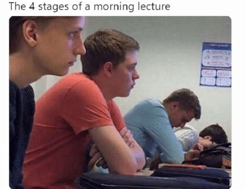 Stages: The 4 stages of a morning lecture