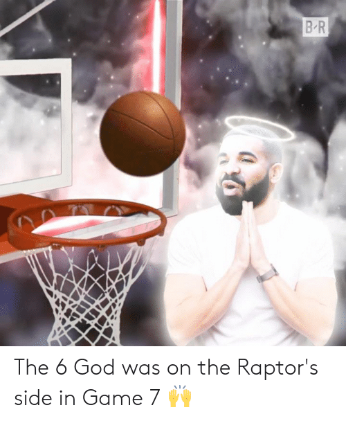 game-7: The 6 God was on the Raptor's side in Game 7 🙌