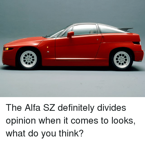 alfa: The Alfa SZ definitely divides opinion when it comes to looks, what do you think?